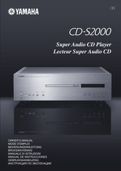 Yamaha CD S2000 - SACD Player Owner's Manual
