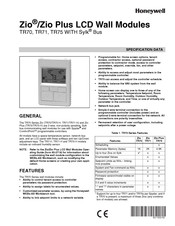 Honeywell Zio TR70 Specification Data