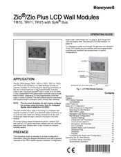 Honeywell Zio TR70 Operating Manual