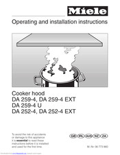 Miele DA 259-4 Operating And Installation Instruction