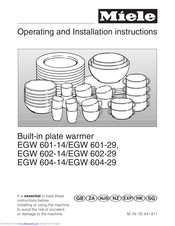 Miele EGW 601-14 Operating And Installation Manual