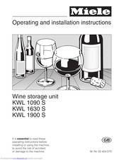 Miele KWL 1630 S Operating And Installation Manual