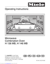 Miele H 136 MB Operating Instructions Manual