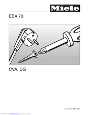Miele EBA 70 CVA Installation Instructions Manual