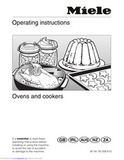 Miele H 250 Operating Instructions Manual
