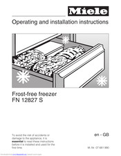Miele FN 12827 S ed Operating And Installation Manual