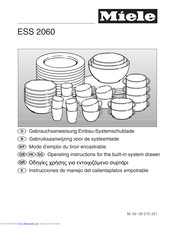 Miele ESS2060 Operating Instructions Manual