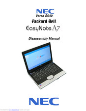 NEC EasyNote A7 Disassembly Manual