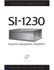 Niles SI-1230 Series 2 Installation & Operation Manual
