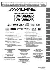 alpine iva w205 wiring diagram alpine iva w505r owner s manual pdf download  alpine iva w505r owner s manual pdf
