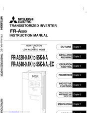 Mitsubishi Electric FR-A540-18.5K-EC Instruction Manual