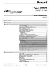 Honeywell Excel 600 Installation Instructions Manual