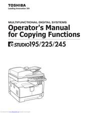 TOSHIBA E-STUDIO195 OPERATOR'S MANUAL Pdf Download