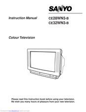 Sanyo CE28WN3-B Instruction Manual