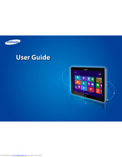 Samsung ATIV Smart PC Pro XE700T1CA04US User Manual