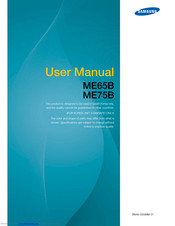 Samsung ME75B User Manual