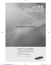 Samsung HG26NA477PF Installation Manual