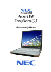 NEC Versa E6000 Disassembly Manual