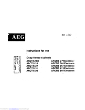 AEG Arctis 23 Instructions For Use Manual