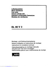 AEG 2V) Ultrapower Instructions For Installation And Use Manual