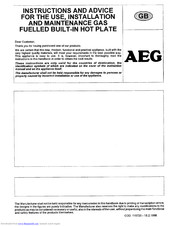 AEG 31213 G W Instructions For Use Manual