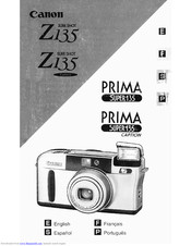 Canon PRIMA SUPER135 Instructions Manual