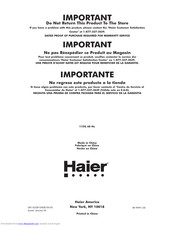 Haier Access Plus LW150 User Manual