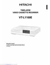 Hitachi VTL1100E Instruction Manual