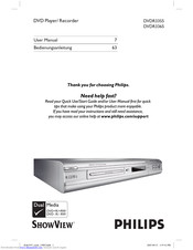 Philips DVDR3355 User Manual
