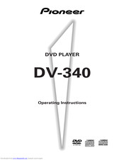 Pioneer DV-340 Operating Instructions Manual