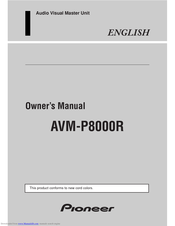 Pioneer AVM-P9000R Owner's Manual