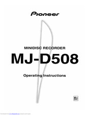 Pioneer MJ-D508 Operating Instructions Manual