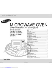 Samsung CK137DM Owner's Instructions And Cooking Manual