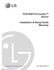 LG PCS150R Pro:Centric Installation & Setup Manual