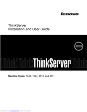 Lenovo ThinkServer 1043 Installation And User Manual