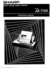 Sharp JX-730 Operation Manual