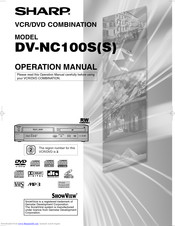 Sharp DV-NC100SS Operation Manual