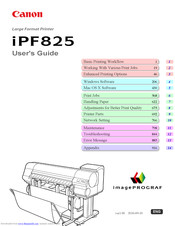 Canon imagePROGRAF iPF825 MFP Basic Guide No.1 User Manual