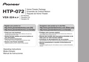 Pioneer HTP-072 Operating Instructions Manual