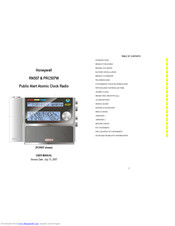 Honeywell RN507 User Manual