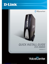 D-Link VoiceCenter DVX-2000MS Quick Installation Manual