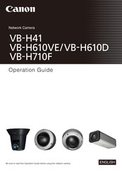 Canon VB-H610D Operation Manual
