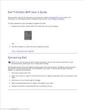 Dell 2335 Mono Laser User Manual