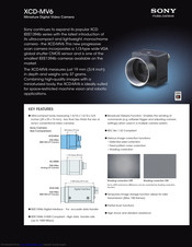 Sony XCD-MV6 Specification Sheet