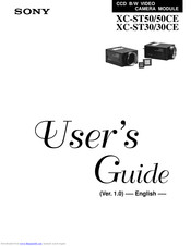 Sony XC-ST50 User Manual