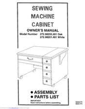 KENMORE 272.98201.491 White Owner's Manual