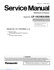 Panasonic Toughbook CF-19CHBAXBM Service Manual