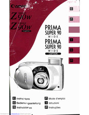 Canon SureShot Z90W Caption Instructions Manual