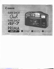 Canon Prima AF-7 Instructions Manual