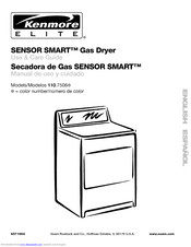 KENMORE Kenmore Gas Dryer 110.7506 Use & Care Manual